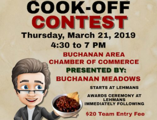 We are participating in Buchanan's 13th Annual Chili Cook-Off Tonight.